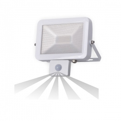 Naświetlacz SLIM LED 20W czuj. ruch. IP44, biały