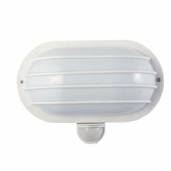 Oprawa SOLANO z czujn. ruchu 180st 60W,IP44, biała
