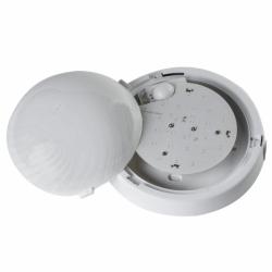Oprawa FEN LED z czuj. mikrof, IP44,poliwęg. mlecz