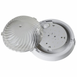 Oprawa FEN LED z czuj. mikrof, IP44,poliwęg. przeź