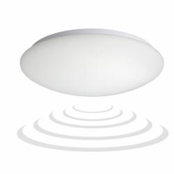Plafon MARIN z czuj. mikrofal. 1x60W, IP44, szkło