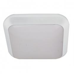Plafon MONSUN LED, biały, poliwęgl. mlecz. IP66