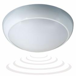 Plafon BLIZZARD z mikrofalowym czujnik, E27, szron