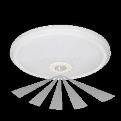 Plafon ZONDA LED, 12W, biały, PC, czuj. ruchu