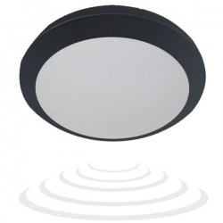 Plafon BRYZA ECO LED czarny, PC,czuj.mikrofal.IP66