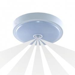 Plafon ANZU LED 15W, biały, PC, czuj. ruchu