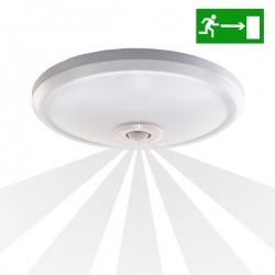 Plafon ZONDA LED EMERGE12W, biały, PC, czujnik PIR