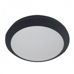 Plafon PASAT LED, czarny, poliwęgl. mlecz. IP66