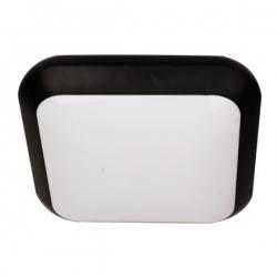 Plafon MONSUN LED, czarny, poliwęgl. mlecz. IP66
