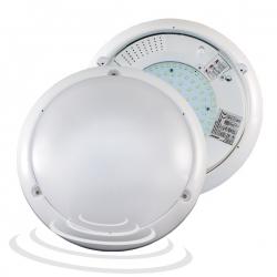 Plafon LUMO LED z 2 stop. mikrofal. czujnik. biały