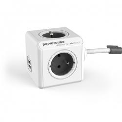 Przedł.PowerCube 4-kr.gn.E/FR+2xUSB 3m EXTENDEDUSB