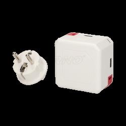 Rozgałęźnik PowerUSB Portable, 4xUSB + PowerBank