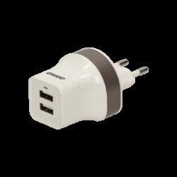 Ładowarka sieciowa 2 x USB, 5VDC/2,1A