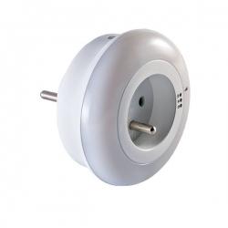 Lampka nocna LED z gniazdem 230V