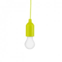 Bateryjna lampka nocna na sznurku 1WLED, limonkowa