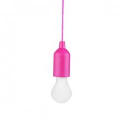 Bateryjna lampka nocna na sznurku 1WLED, różowy