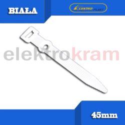 Opaska kablowa z otworem UP-z 45mm op 50szt biała