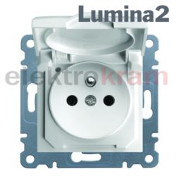 Gniazdo 2P+E 230V/16A IP44 lumina2 ( biały )