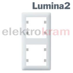 Ramka 2-krotna pionowa lumina2 ( biały )
