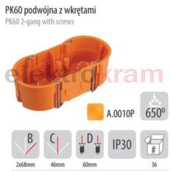 PAWBOL puszka PK60 podwójna do płyt gips płytka