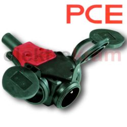 PCE rozgałęźnik gumowy IP44 2x250V 16A