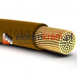 Przewód linka H05V-K LGY 1,5 500V brązowy.