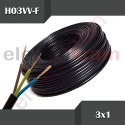 Przewód okrągły H03VV-F OMY 3x1,0 300V czarny