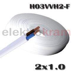 Przewód płaski H03VVH2-F OMYp 2x1 biały