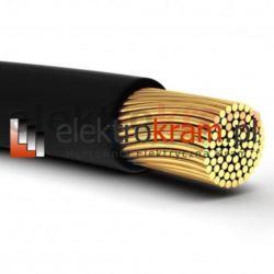 Przewód linka H05V-K LGY 1,0 500V czarny.