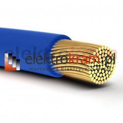 Przewód linka H05V-K LGY 1,0 500V niebieski.