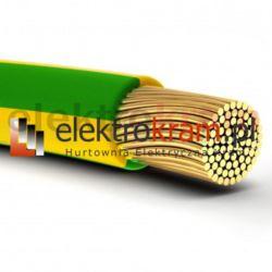 Przewód linka H05V-K LGY 1,0 500V żółto zielony.