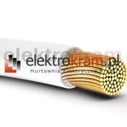 Przewód linka H05V-K LGY 1,0 500V biały.
